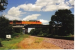 BNSF 4736 takes a taconite train south