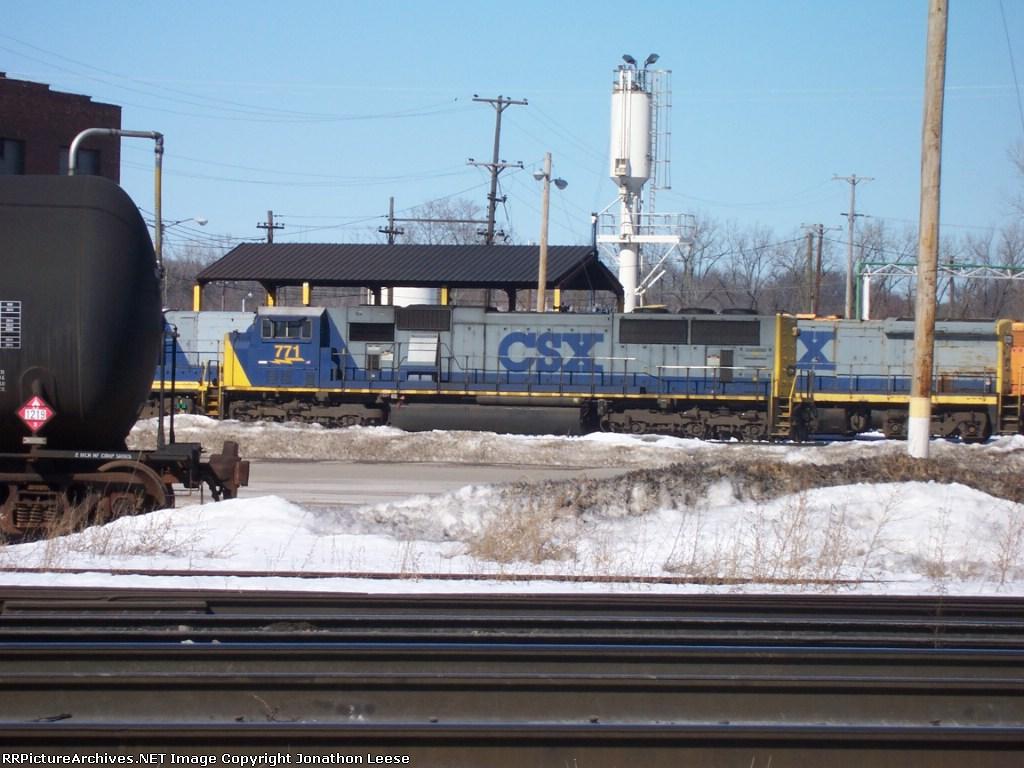 CSX 771 Outside For A Test Run