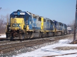 Q326-10, With 2 GP38-2s For Lansing
