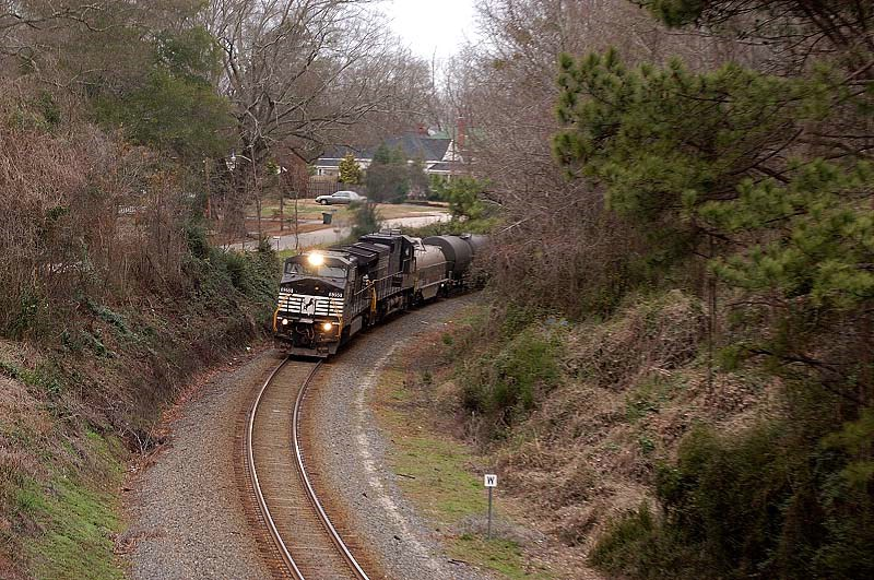 NS 155 Heads toward the SC 21 overpass in Ridgeway Sc on its way south to columbia