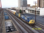 CSX 7737 leads train Q282 past Birmingham Amtrak station