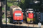 Locomotives meet .