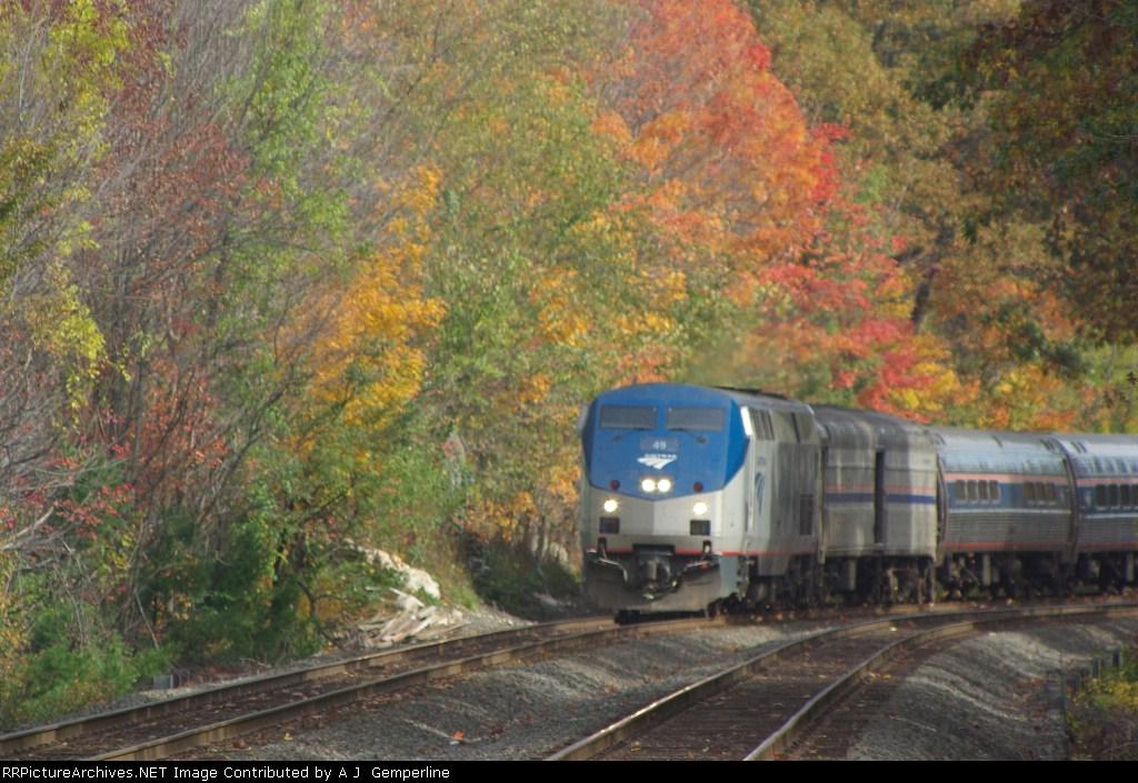 AMTK 49  Leads Boston Section (Train 449) of Lake Shore