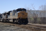 CSX 4834 leading Q436 at Cherry Street