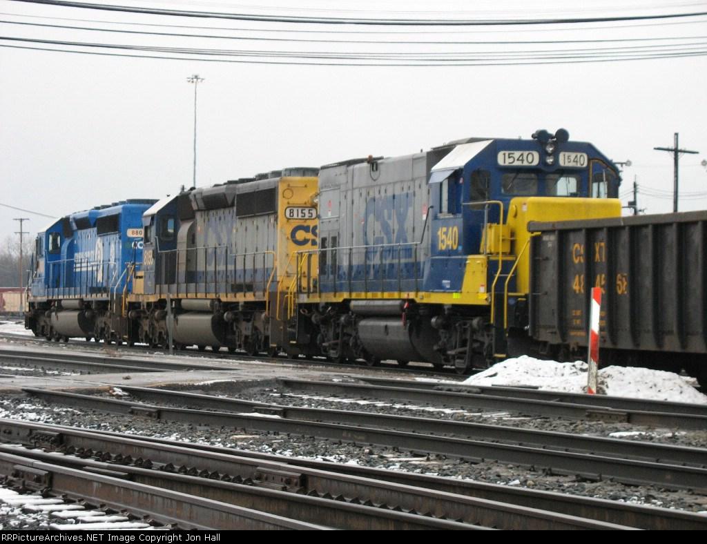 CSX 1540, 8155 & 8803