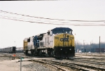 CSX 7696 leading out of the yard