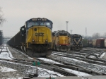 CSX 746, NREX 2939 & HLCX 9034 tied down for New Years Eve