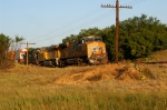 UP 5431 leading a westbound container train on a July West Texas evening