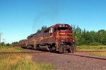 DMIR 413 crossing the Duluth Winnipeg & Pacific