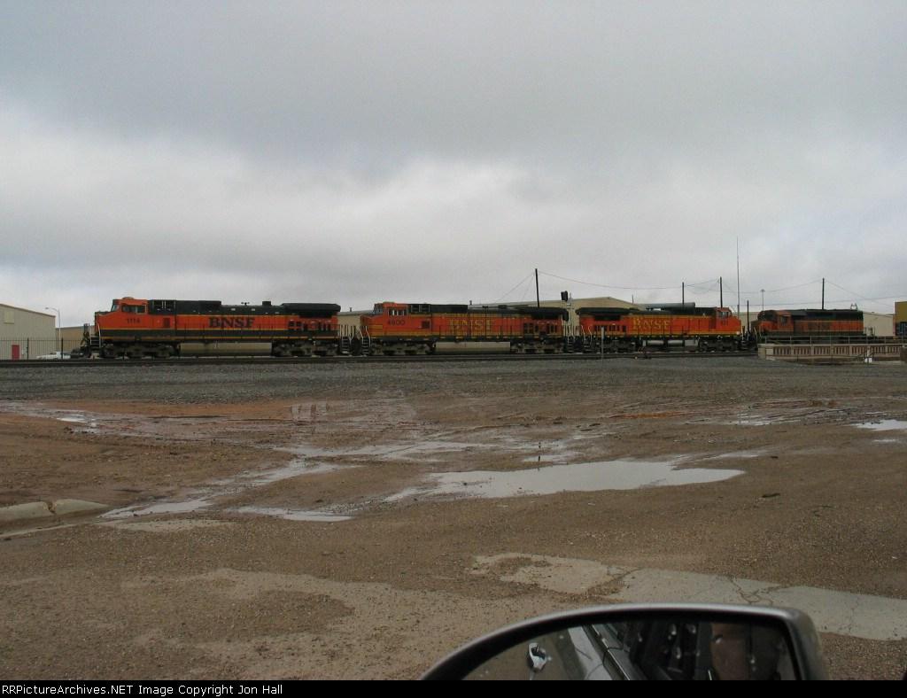 BNSF 1114, 4600, 831 & 7307