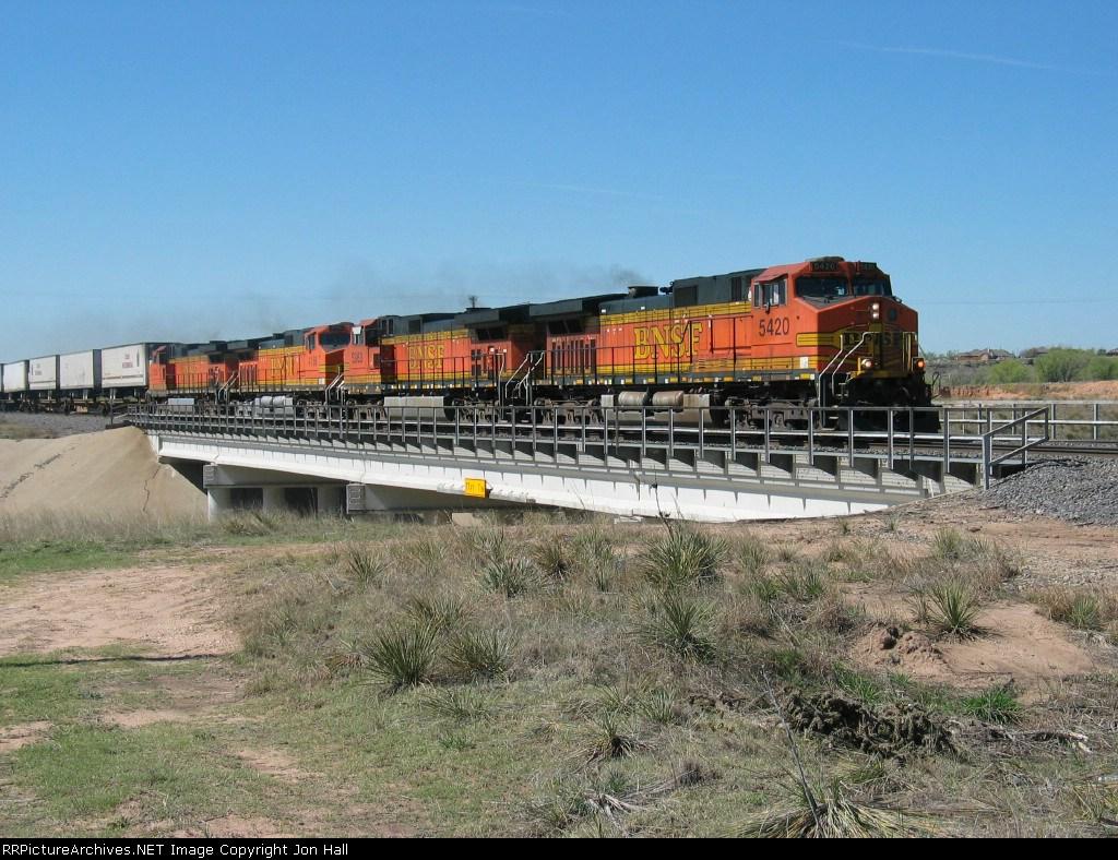 BNSF 5420, 5363, 4188 & 5129