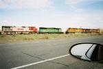 BNSF 9272 & 789 meeting BNSF 5350 & 974