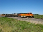 BNSF 5455 leading 3 70MAC's