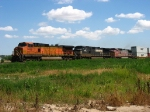 BNSF 5068 & 941 bracketing NS 9488