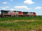 BNSF 654 & 727