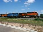 BNSF 1048, NS 6805 & BNSF 5243
