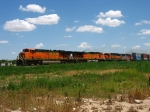 BNSF 7743 leading 4083, 3151 & 156