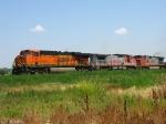 BNSF 7747, 870 & 784 rolling west
