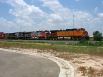 BNSF 5016 leading BNSF 604 & 961 with NS 8761 in the mix