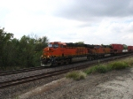 BNSF 7747 & 4749 leading double stacks
