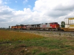 BNSF 700 trailing along