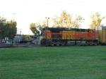 BNSF 6489 sits is the back as 5709 waits with autoracks