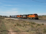 BNSF 7717 & 7793 heading east with WC 6907 between them