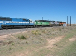 EMDX 9076 following BNSF 3110 & 4098 with TFM 1665 mixed in