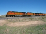 BNSF 4125, 4886 & 4178 pulling west