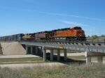 BNSF 7629 & 1057 with UP 4269