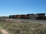 BNSF 4705 & 4915 following NS 7630