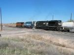 NS 2699 & EMDX 9018 following BNSF 5065