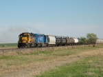 BNSF 8714 & CEFX 3187 working their way back north towards Amarillo