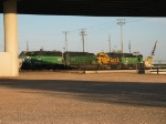 BNSF 2182, 7020, 3203 & 3154