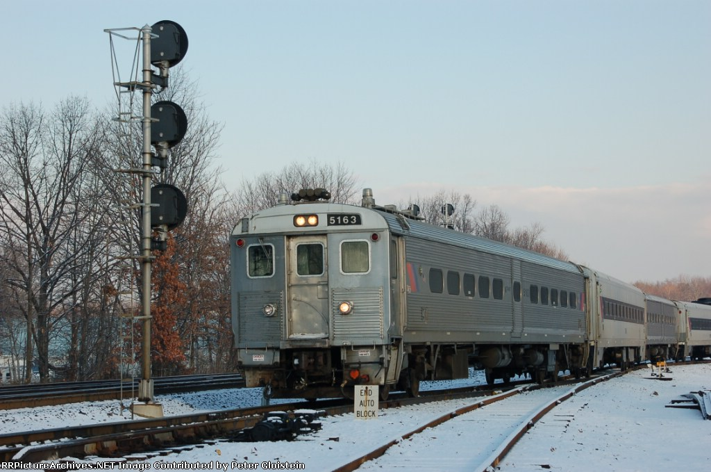 Eastbound train pulls out of the yard at WC
