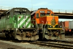BNSF 7813 and BNSF 6804