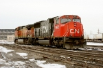 CN 5642 and BNSF 4488