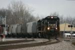 NS 8715 brings a grain train down the Wabash