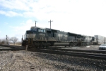 NS 2635 heads stacks towards Butler and the Conrail connection