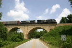 NS 204 coasts across the Cherokee Creek viaduct