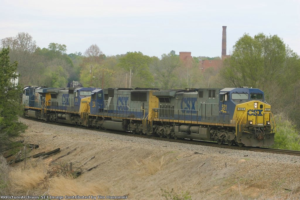 Southbound hoppers wind through town