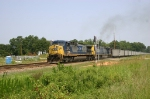 Southbound SCWX hoppers pass the new N Ora signals