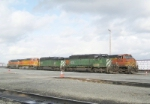 BNSF power @ Delta Yard