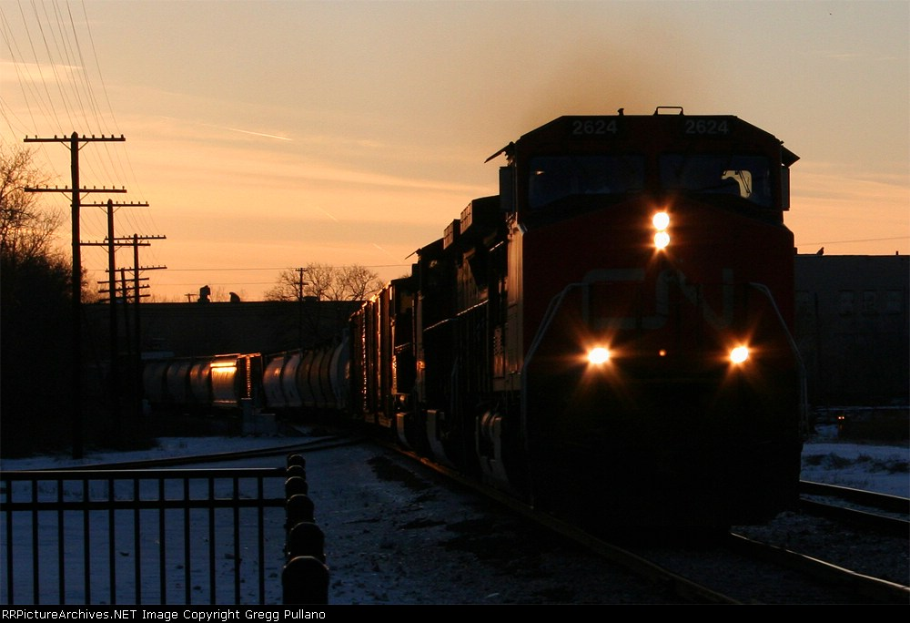 CN 2624 in the Sunset