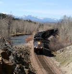 MRL 4301 lead the M-L along the Little Blackfoot River