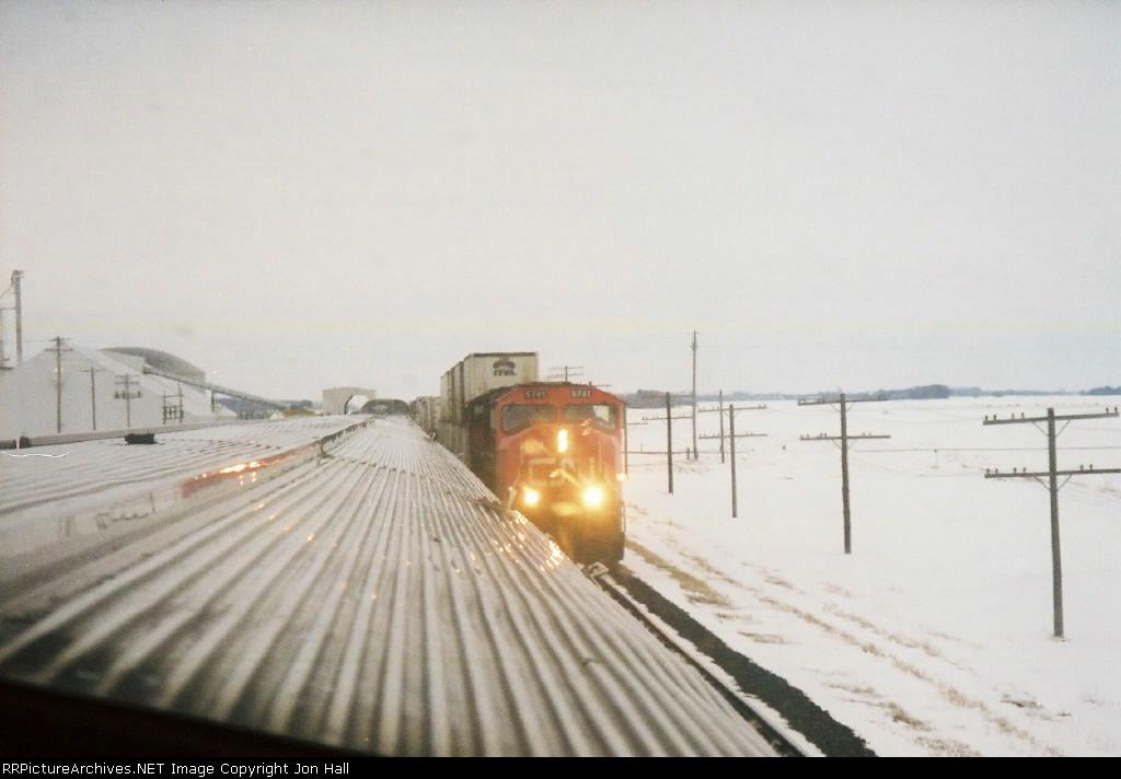 CN 5741 heading east past us