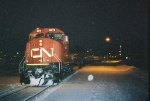 CN 5670 on the point of the Snow Train before departure