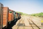 CN 9601 & 5685 pulling away