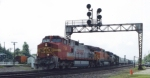 BNSF 758, BNSF 5141, & NS 9370