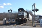 Morristown & Erie  crew heading back to Dover with NS H0-2 engine on the D&R Branch